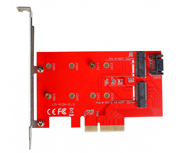 i-tec Adapter PCI-E SATA 2x M.2 Card PCI-E/SATA - 378032 - zdjęcie 2