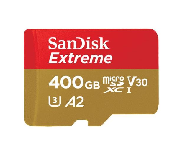 SanDisk 400GB microSDXC Extreme 160MB/s A2 C10 V30 UHS-I  - 453919 - zdjęcie