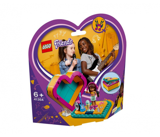 LEGO Friends Pudełko w kształcie serca Andrei - 465056 - zdjęcie