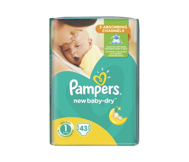 Pampers New Baby Dry 1 Newborn 2-5kg 43szt  - 461166 - zdjęcie