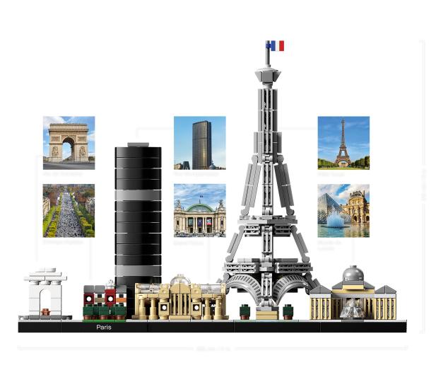 LEGO Architecture Paryż - 467540 - zdjęcie 3