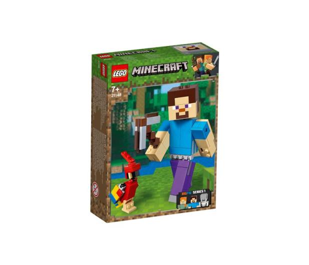 LEGO Minecraft BigFig Steve z papugą - 467541 - zdjęcie