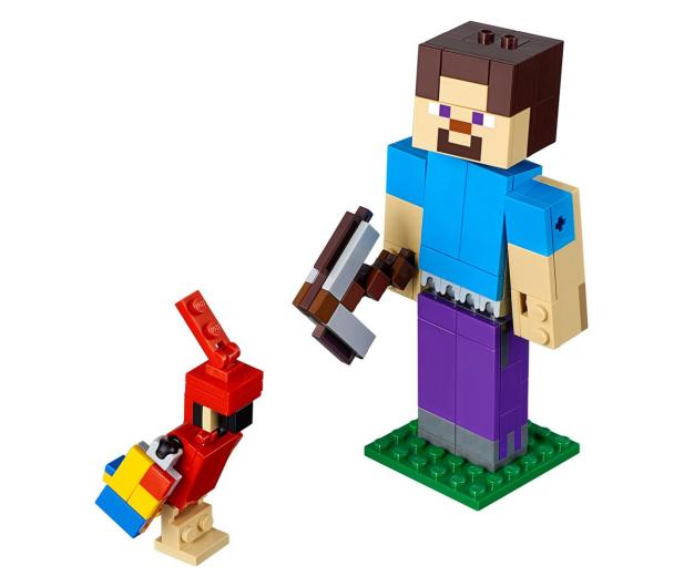 LEGO Minecraft BigFig Steve z papugą - 467541 - zdjęcie 2
