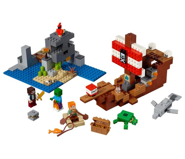 LEGO Minecraft Przygoda na statku pirackim - 467546 - zdjęcie 2