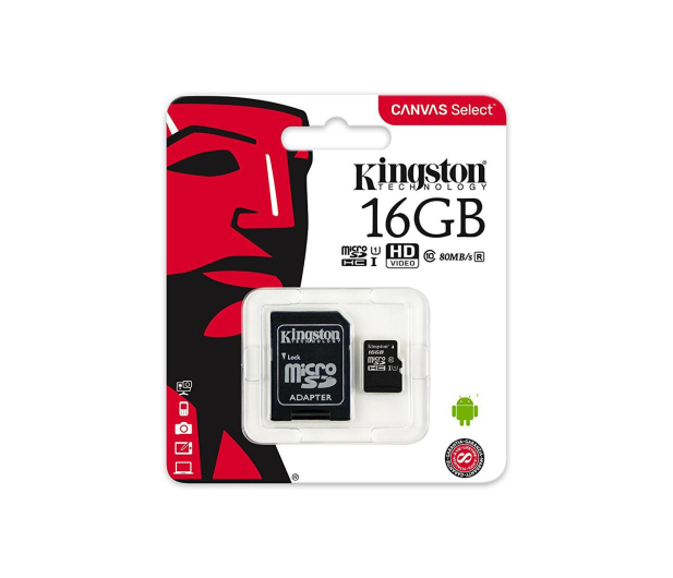 Kingston 16GB microSDHC Canvas Select 80MB/s C10 UHS-I - 408957 - zdjęcie 4