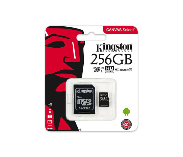 Kingston 256GB microSDXC Canvas Select 80MB/s C10 UHS-I - 408961 - zdjęcie 4