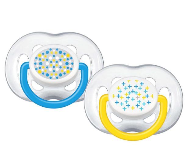 Philips Avent Smoczek Ortodontyczny 6-18m+ 2szt Żółty - 330621 - zdjęcie 1