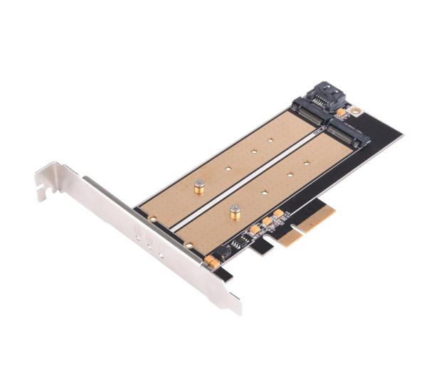SilverStone PCIe x4 - 2xM.2 - 406456 - zdjęcie