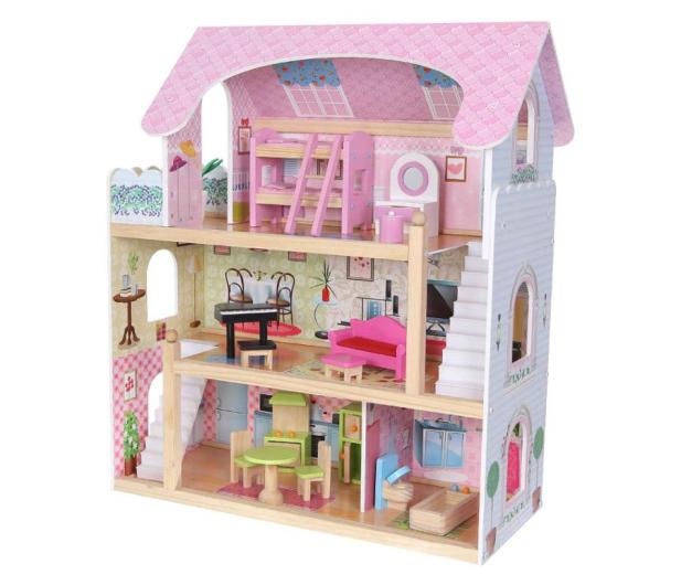 ECOTOYS Domek dla lalek Rezydencja bajkowa - 414306 - zdjęcie