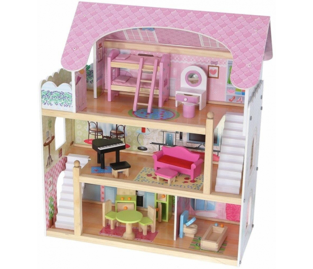 ECOTOYS Domek dla lalek Rezydencja bajkowa - 414306 - zdjęcie 2