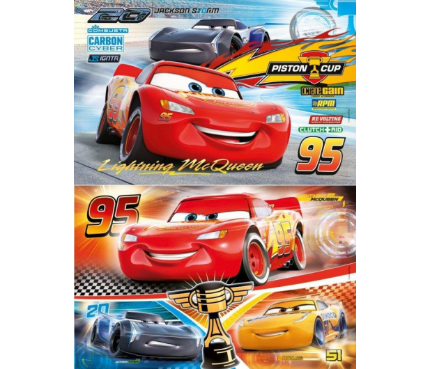Clementoni Puzzle Disney Cars 2x60 el. - 414603 - zdjęcie 2