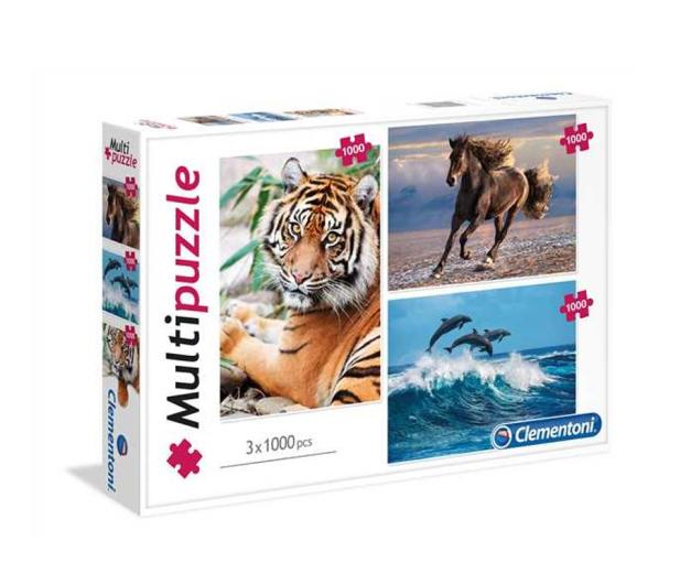 Clementoni Puzzle Animals 3x1000 el. - 416838 - zdjęcie