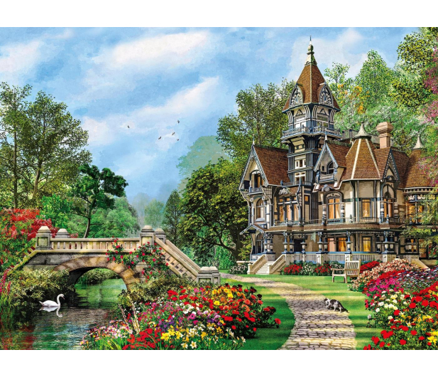 Clementoni Puzzle HQ Old Waterway Cottage - 417070 - zdjęcie 2