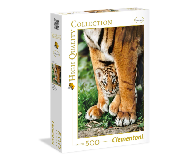 Clementoni Puzzle HQ Bengal Tiger Cub Between Its Mother'S Legs - 417078 - zdjęcie