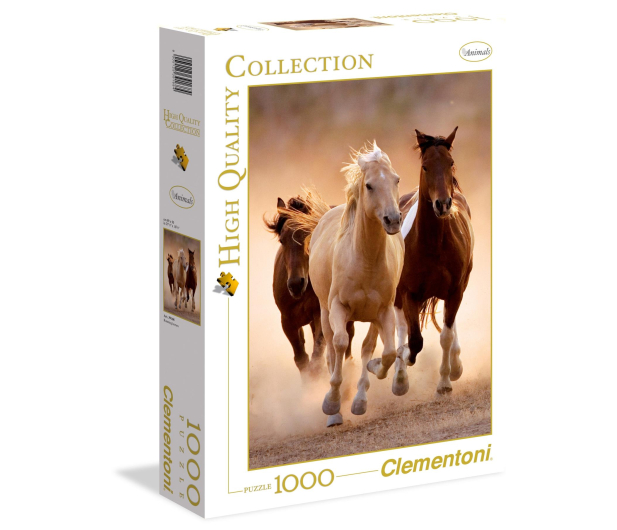 Clementoni Puzzle HQ  Running horses - 417124 - zdjęcie