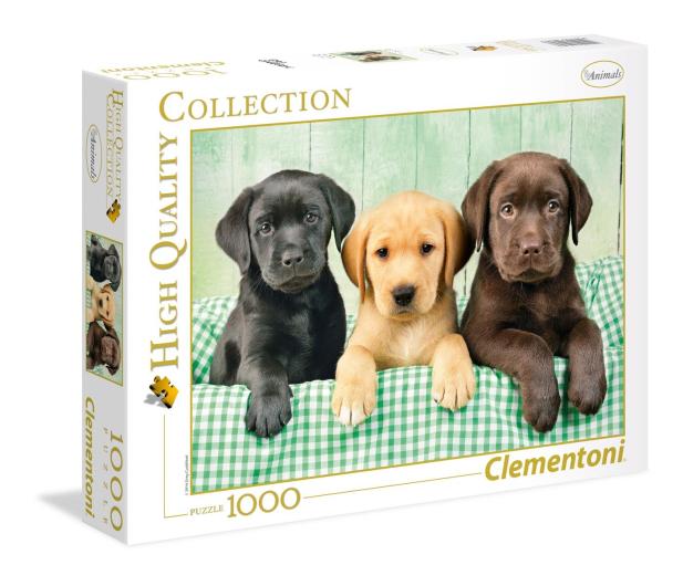 Clementoni Puzzle HQ  I tre Labrador - 417220 - zdjęcie