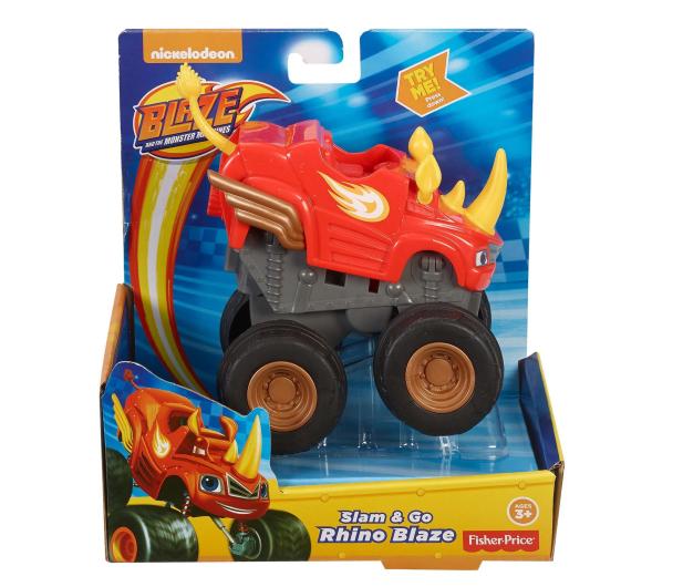 Fisher-Price Blaze Pojazd Naciśnij i Jedź Rhino Blaze  - 421032 - zdjęcie 2