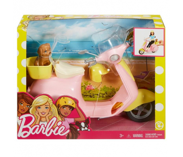 Barbie Skuter ze szczeniaczkiem - 420724 - zdjęcie 2