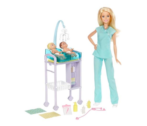 Barbie Lekarka blondynka Zestaw z bobasami  - 422700 - zdjęcie