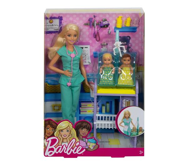 Barbie Lekarka blondynka Zestaw z bobasami  - 422700 - zdjęcie 5
