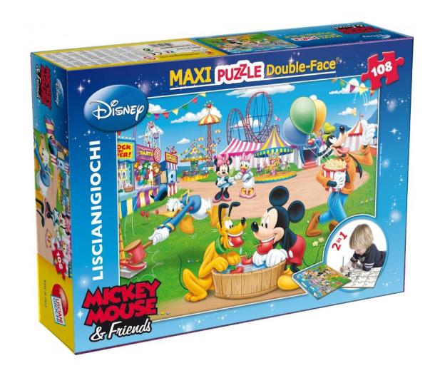 Lisciani Giochi Disney dwustronne Maxi 108 el. Myszka Mickey v2 - 417774 - zdjęcie