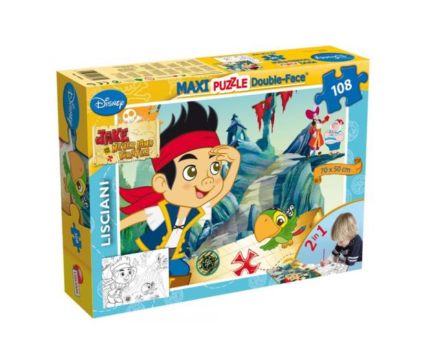 Lisciani Giochi Disney Dwustronne Maxi 108 el. Jake - 417981 - zdjęcie