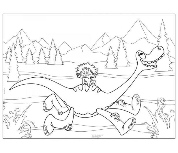 Lisciani Giochi Disney Dwustronne Maxi 48 el.Dobry Dinozaur - 418547 - zdjęcie 3