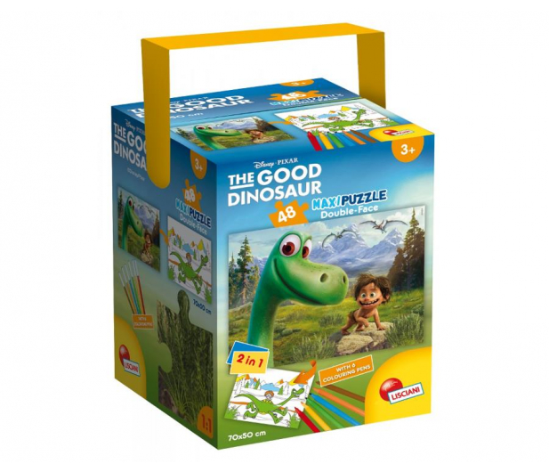 Lisciani Giochi Disney Dwustronne Maxi 48 el.Dobry Dinozaur - 418547 - zdjęcie