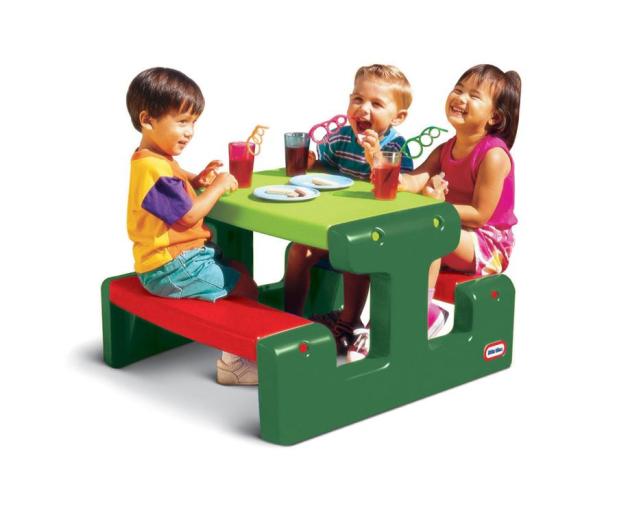 Little Tikes Mały stolik ogrodowy dla dzieci zielony - 422004 - zdjęcie