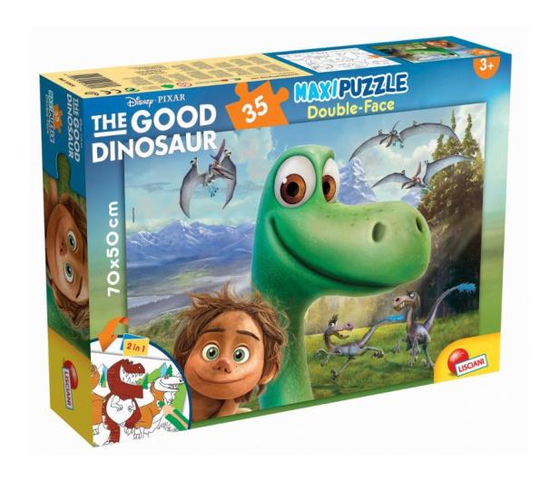 Lisciani Giochi Disney Dwustronne Maxi 35 el. Dobry Dinozaur - 418537 - zdjęcie