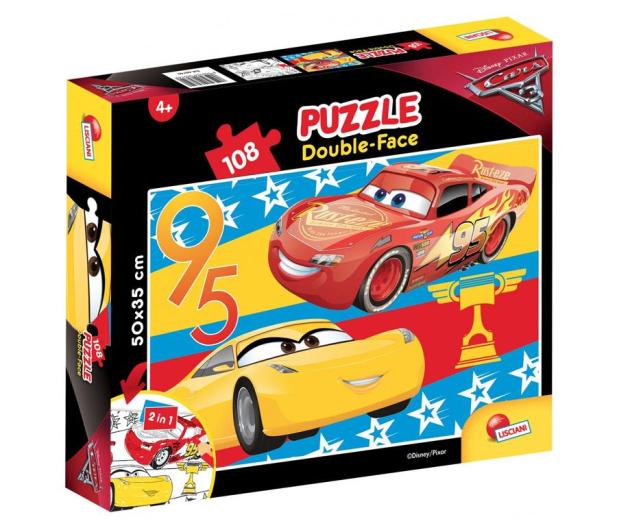 Lisciani Giochi Disney dwustronne 108 el. Cars 3 - 419331 - zdjęcie