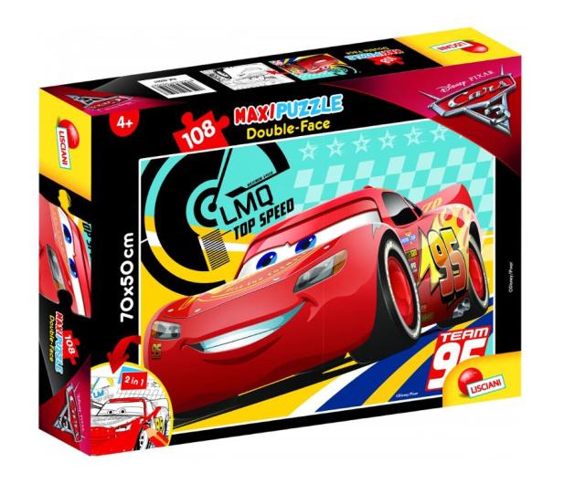 Lisciani Giochi Disney dwustronne Maxi 108 el. Auta 3 - 419319 - zdjęcie