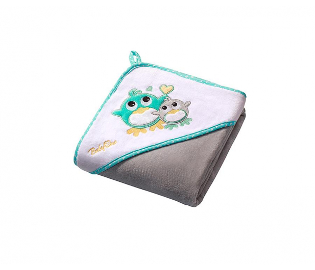 BabyOno Okrycie Kąpielowe Ręcznik Z Kapturem 100x100 Szary - 427124 - zdjęcie