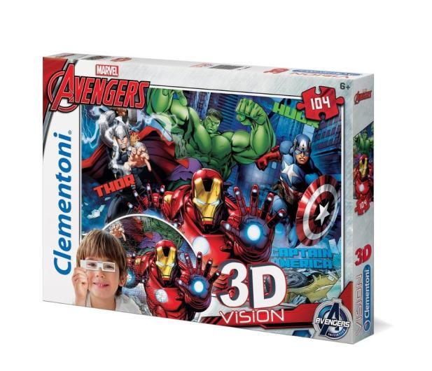 Clementoni Puzzle Disney 3D Vision Avengers 104 el. - 417294 - zdjęcie