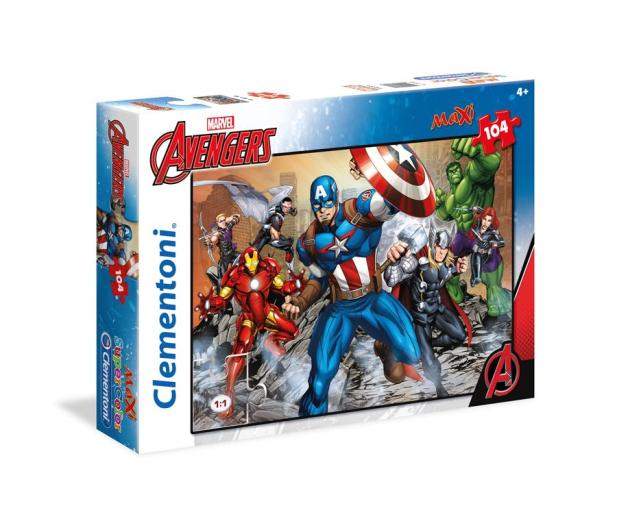 Clementoni Puzzle Disney Maxi Super Kolor The Avengers 104 el. - 417308 - zdjęcie