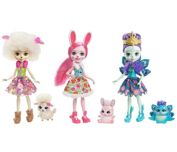Mattel Enchantimals Trzypak Lalki ze Zwierzątkami - 421667 - zdjęcie