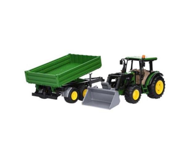 Bruder Traktor John Deere 5115M z ładowaczem i przyczepą - 435174 - zdjęcie