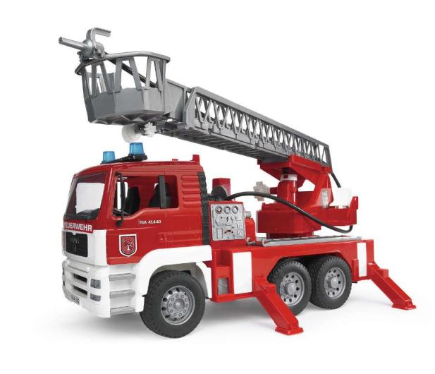 Bruder Zestaw MAN Straż pożarna + czerwony kask - 435178 - zdjęcie