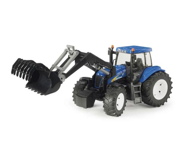Bruder Traktor New Holland TG 285 z ładowarką i przyczepą - 435179 - zdjęcie 2