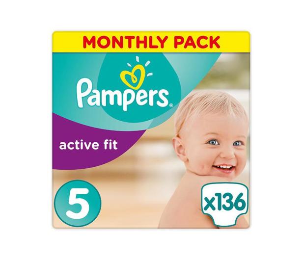 Pampers Active Fit 5 Junior Na Miesiąc 136szt - 439025 - zdjęcie