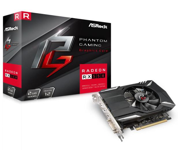 ASRock  Radeon RX 550 Phantom Gaming 2GB GDDR5 - 439950 - zdjęcie