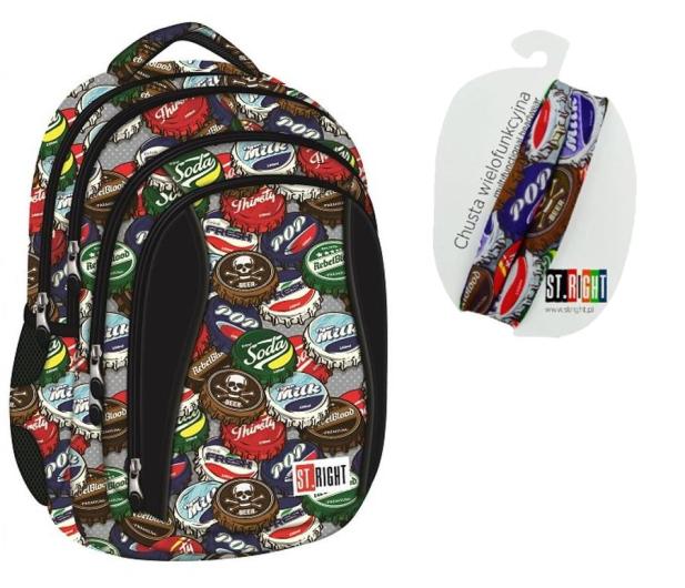Majewski ST.Right Plecak szkolny Bottle Caps BP-04 - 412540 - zdjęcie