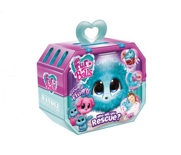 TM Toys Fur Balls Zwierzątko niespodzianka turkus - 440385 - zdjęcie
