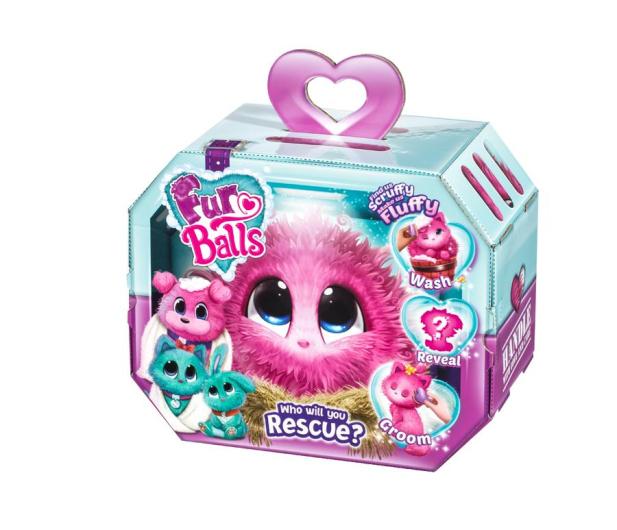 TM Toys Fur Balls Zwierzątko niespodzianka różowy - 440829 - zdjęcie