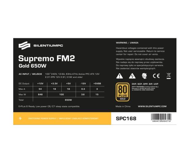 SilentiumPC 650W Supremo FM2 Gold - 363851 - zdjęcie 7