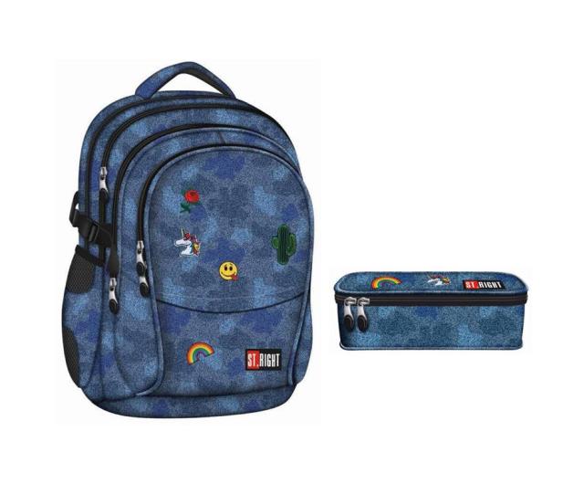5b52249ae34ab Majewski ST.Right Plecak Jeans   Badges BP-01 + piórnik PC2 - 438196