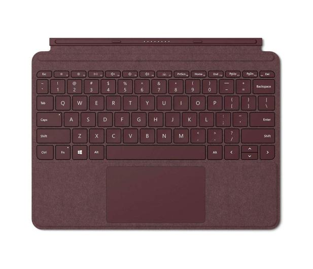 Microsoft Signature Type Cover do Surface Go Burgundowy - 440097 - zdjęcie