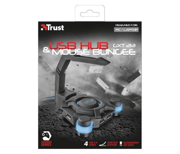 Trust GXT 213 USB Hub & Mouse Bungee  - 447980 - zdjęcie 4