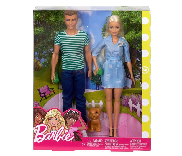 Barbie Zestaw Lalka i Ken z pieskiem - 452173 - zdjęcie 6