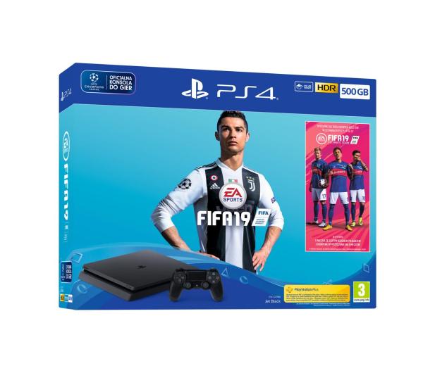 Sony Playstation 4 Slim 500GB + FIFA 19 - 436878 - zdjęcie